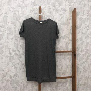 High slit Grey H&M long ribbed T-shirt tunic